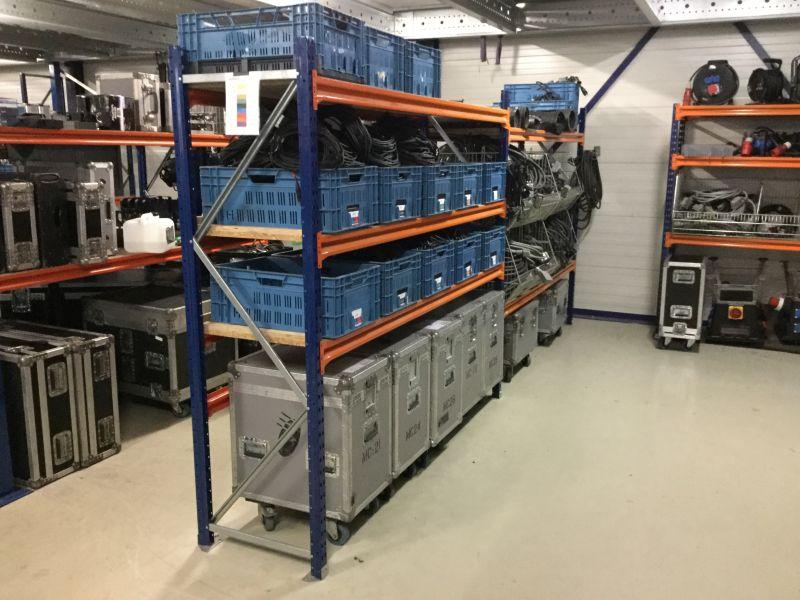 Reja grootvakstelling magazijnstellingen.nl opslag Powersound Groningen